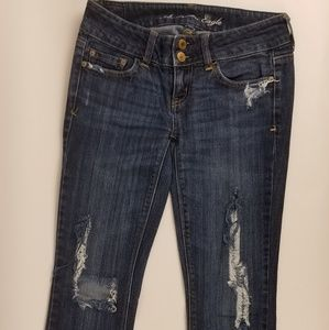 AE Artist Distressed Jean's Sz 0 Reg Stretch